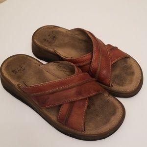 Dr Martin Slide Leather Cross Sandals